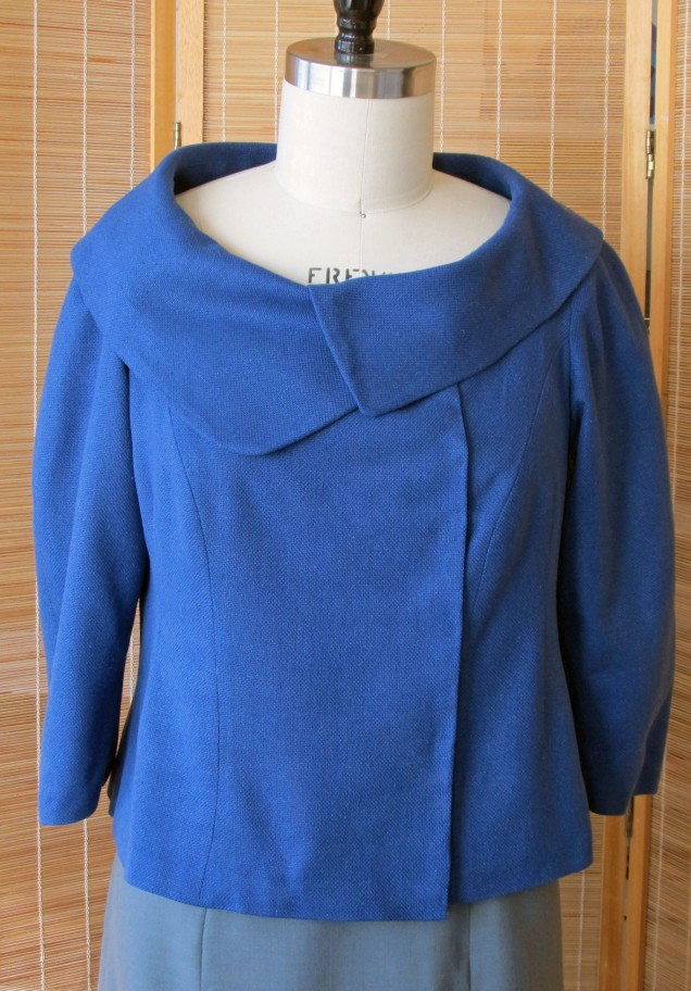 Blue Asymmetric Jacket
