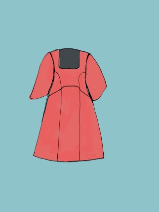 Square necked variation on Spoonflower Dress with Sleeves